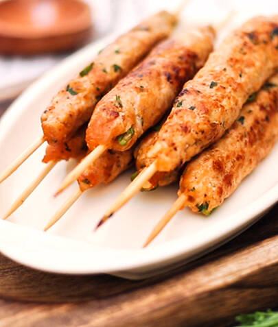 Vege kebab na indijski način